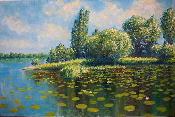 Verbny island (Kiev) • Остров Вербный (Киев), 2014, 75×50 cm, oil on canvas – холст, масло
