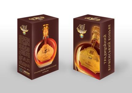 """Package design for NOY-Classic brandy / Дизайн упаковки для коньяка """"НОЙ-Классик"""""""